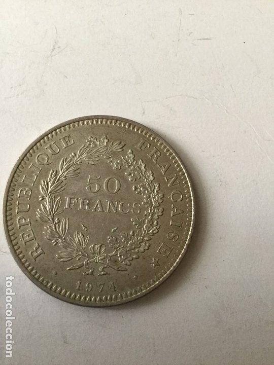 Monedas antiguas de Europa: Francia - 50 francos plata - 1974 - Foto 2 - 175411688