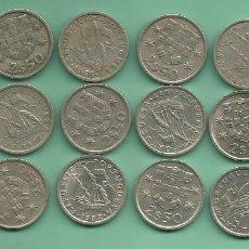 Monedas antiguas de Europa: PORTUGAL. 18 MONEDAS DE 2,5 ESCUDOS DE 18 FECHAS DIFERENTES. Lote 175589110