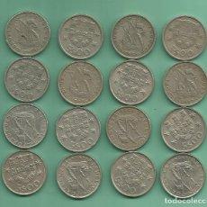Monedas antiguas de Europa: PORTUGAL. 16 MONEDAS DE 5 ESCUDOS DE 16 FECHAS DIFERENTES. Lote 175606910