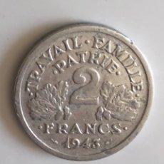 Monedas antiguas de Europa: 2 FRANCOS FRANCIA OCUPACIÓN NAZI 1943 II GUERRA MUNDIAL. Lote 175619869