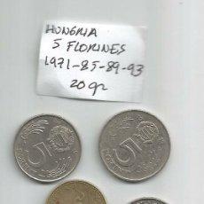 Monedas antiguas de Europa: HUNGRIA 5 FLORINES 4 MONEDAS 20 GR. Lote 175835827