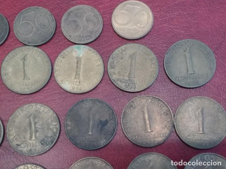 Monedas antiguas de Europa: AUSTRIA: LOTE DE 23 MONEDAS DE 50 GROSCHEN Y 1 CHELIN (AÑOS 50 A 80) - Foto 2 - 175875149