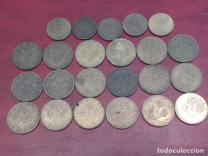 Monedas antiguas de Europa: AUSTRIA: LOTE DE 23 MONEDAS DE 50 GROSCHEN Y 1 CHELIN (AÑOS 50 A 80) - Foto 5 - 175875149