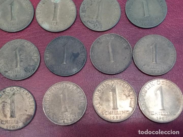 Monedas antiguas de Europa: AUSTRIA: LOTE DE 23 MONEDAS DE 50 GROSCHEN Y 1 CHELIN (AÑOS 50 A 80) - Foto 6 - 175875149