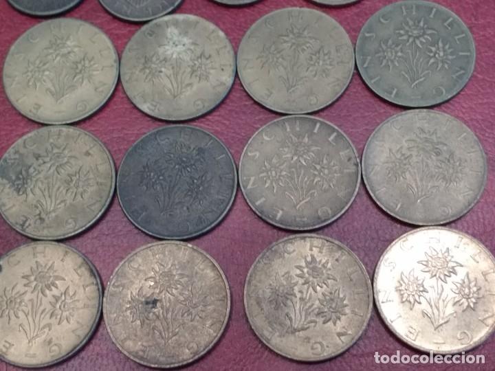 Monedas antiguas de Europa: AUSTRIA: LOTE DE 23 MONEDAS DE 50 GROSCHEN Y 1 CHELIN (AÑOS 50 A 80) - Foto 7 - 175875149