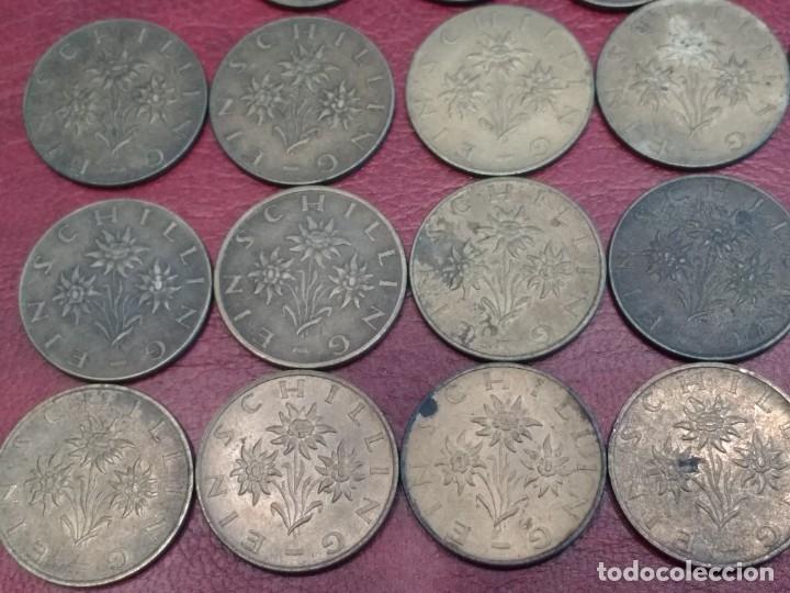 Monedas antiguas de Europa: AUSTRIA: LOTE DE 23 MONEDAS DE 50 GROSCHEN Y 1 CHELIN (AÑOS 50 A 80) - Foto 8 - 175875149