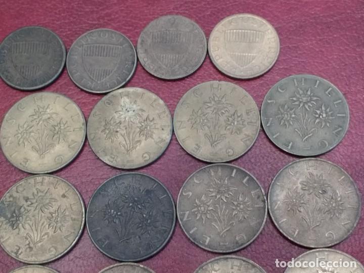 Monedas antiguas de Europa: AUSTRIA: LOTE DE 23 MONEDAS DE 50 GROSCHEN Y 1 CHELIN (AÑOS 50 A 80) - Foto 9 - 175875149