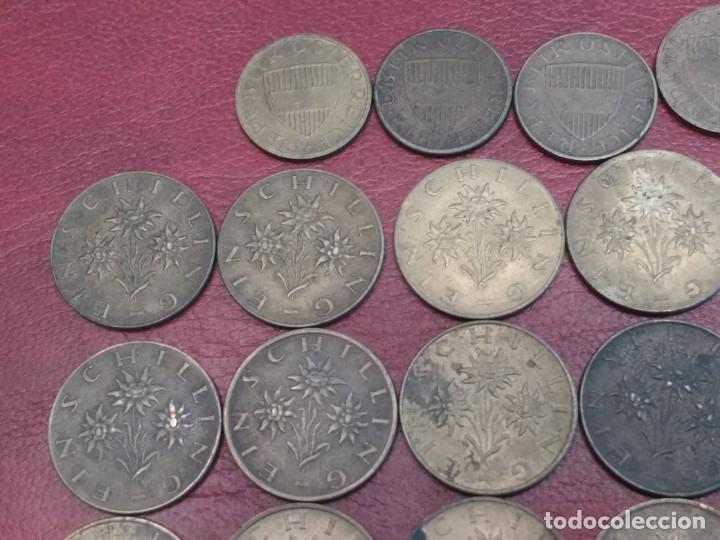 Monedas antiguas de Europa: AUSTRIA: LOTE DE 23 MONEDAS DE 50 GROSCHEN Y 1 CHELIN (AÑOS 50 A 80) - Foto 10 - 175875149