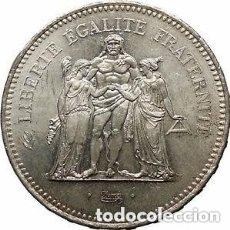 Monedas antiguas de Europa: 50 FRANCOS FRANCESES DE PLATA (HERCULES) 1977. Lote 175978255