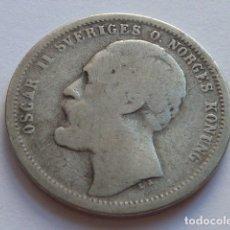 Monedas antiguas de Europa: MONEDA DE PLATA DE 1 CORONA DEL REY OSCAR II DE SUECIA Y NORUEGA DE 1875. Lote 176016039