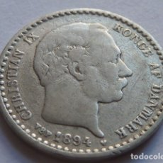 Monedas antiguas de Europa: ESCASA MONEDA DE PLATA DE 10 ORE DE DINAMARCA DE 1905, REY CHRISTIAN IX. Lote 176017737