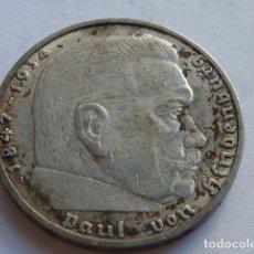 Monedas antiguas de Europa: MONEDA DE PLATA 2 MARCOS 1938 CECA A, BERLIN, ALEMANIA NAZI, MARISCAL PAUL VON HINDENBURG. Lote 176091714