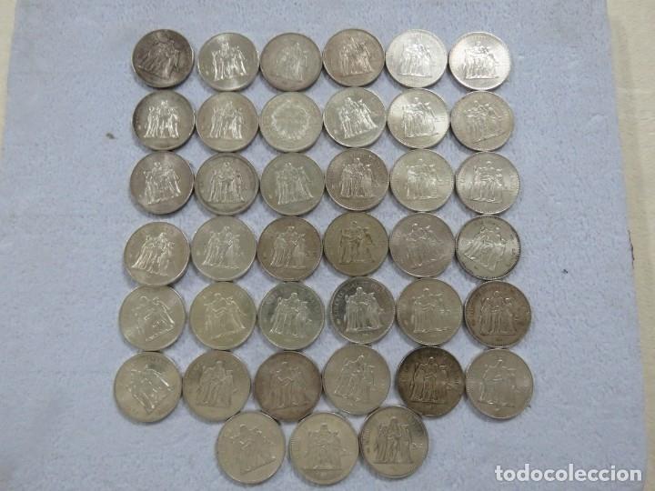LOTAZO DE 39 MONEDAS DE 50 FRANCOS FRANCESES DE HERCULES EN PLATA, TOTAL 1.170 GRAMOS DE PLATA (Numismática - Extranjeras - Europa)