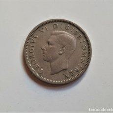 Monedas antiguas de Europa: GRAN BRETAÑA SIXPENCE 1948. Lote 176220509