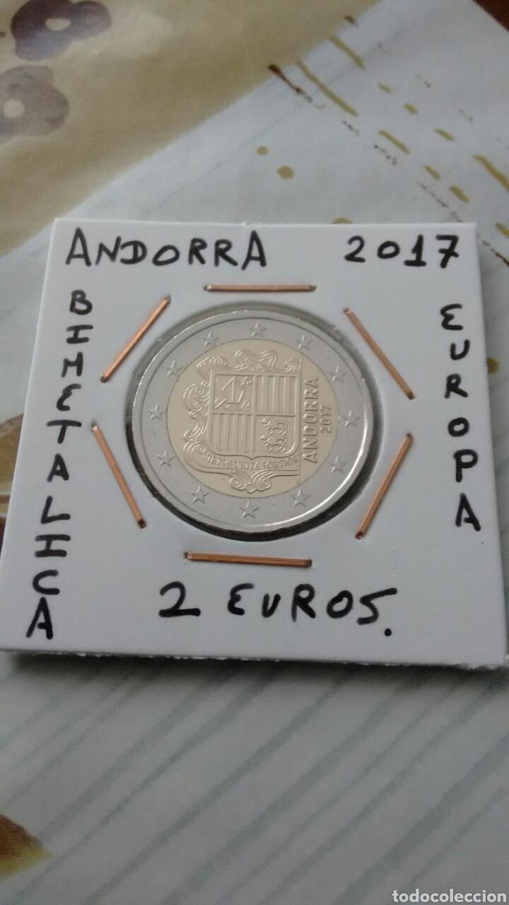 MONEDA 2 EUROS ANDORRA 2017 MBC ENCARTONADA (Numismática - Extranjeras - Europa)
