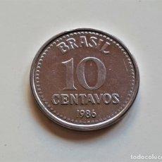 Monedas antiguas de Europa: BRASIL 10 CENTAVOS 1986. Lote 176450839