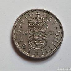 Monedas antiguas de Europa: GRAN BRETAÑA ONE SHILLING 1955. Lote 176451475