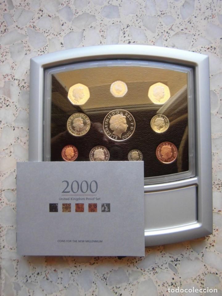 Monedas antiguas de Europa: ESTUCHE EXPOSITOR MONEDAS REINO UNIDO 2000 - Foto 2 - 176512327