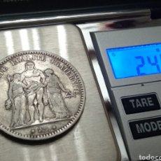 Monedas antiguas de Europa: MONEDA DE PLATA 5 FRANCS 1873. Lote 176609679