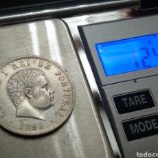 Monedas antiguas de Europa: MONEDA PLATA 500 REIS 1891. Lote 176609830
