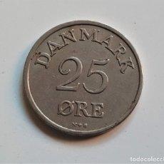 Monedas antiguas de Europa: DANMARK 25 ORE 1953. Lote 176689699