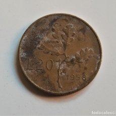 Monedas antiguas de Europa: ITALIA 20 LIRAS 1958. Lote 176691094