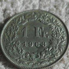 Monedas antiguas de Europa: SUIZA MONEDA DE PLATA 1963 UN FRANCO. Lote 176921539