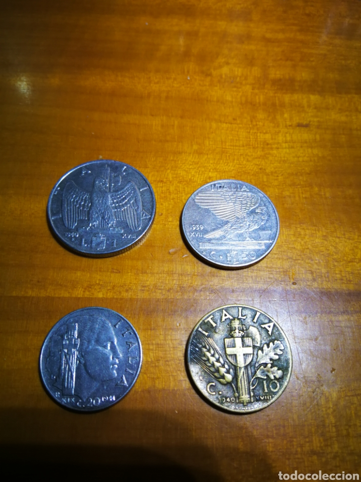LOTE MONEDAS ITALIANAS SEGUNDA GUERRA MUNDIAL (Numismática - Extranjeras - Europa)