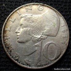 Monedas antiguas de Europa: AUSTRIA 10 SHILLING 1959 -PLATA-. Lote 177061682