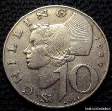 Monedas antiguas de Europa: AUSTRIA 10 SHILLING 1957 REF.2 -PLATA-. Lote 177062028