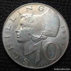 Monedas antiguas de Europa: AUSTRIA 10 SHILLING 1957 REF.1 -PLATA-. Lote 177062180