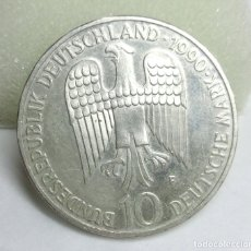 Monedas antiguas de Europa: MONEDA DE PLATA - 10 MARCOS ALEMANES DE 1990. Lote 177305358