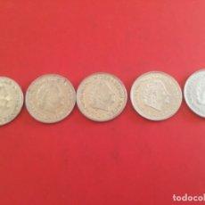 Monedas antiguas de Europa: HOLANDA PAÍSES BAJOS 5 MONEDAS DE 1 FLORIN 1967, 1971, 1972, 1977 Y 1978 EXCELENTES. Lote 177479467