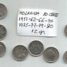 Monedas antiguas de Europa: HOLANDA 10 CENTS 8 MONEDAS 12 GR 1. Lote 177690818