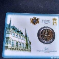 Monedas antiguas de Europa: LUXEMBURGO 2 EUROS 2018 EN COINCARD - GRAN DUQUE GUILLERMO I. Lote 177942480
