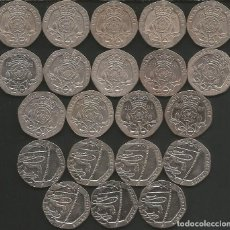 Monedas antiguas de Europa: REINO UNIDO (VER AÑOS EN DESCRIPCION) - 20 PENCE - KM VARIOS - LOTE 21 MONEDAS CIRCULADAS. Lote 177959780