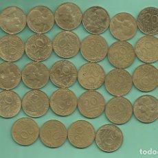 Monedas antiguas de Europa: FRANCIA. 36 MONEDAS DE 20 CENTIMES, 36 FECHAS DIFERENTES. Lote 177962515