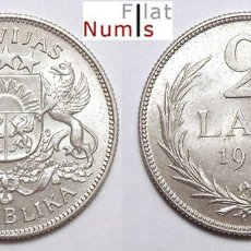 Monedas antiguas de Europa: LATVIA - 2 LATI - 1925 - PLATA - NO CIRCULADA. Lote 178339460