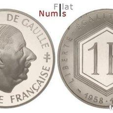 Monedas antiguas de Europa: FRANCIA - 1 FRANCO - 1988 - PLATA - PROOF - NO CIRCULADA. Lote 178340185