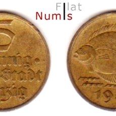 Monedas antiguas de Europa: DANZIG - 5 + 10 PFENNIG - 1932 - ALUM-BRONCE - E.B.C.- ESCASAS. Lote 178340776