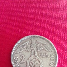 Monedas antiguas de Europa: MONEDA DE PLATA DE 2 MARCOS ALEMANES 1938. Lote 178368787