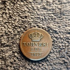 Monedas antiguas de Europa: ITALIA, 2 DUE TORNESI 1842 - REINO DE LAS 2 SICILIAS. Lote 178388625