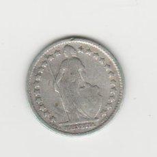 Monedas antiguas de Europa: SUIZA-1/2 FRANCO-1910-PLATA. Lote 178393310