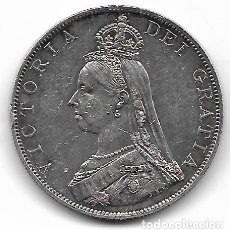 Monedas antiguas de Europa: INGLATERRA DOBLE FLORIN = 4 SHILLINGS 1887 REINA VICTORIA KM 763 - PLATA. Lote 178608308