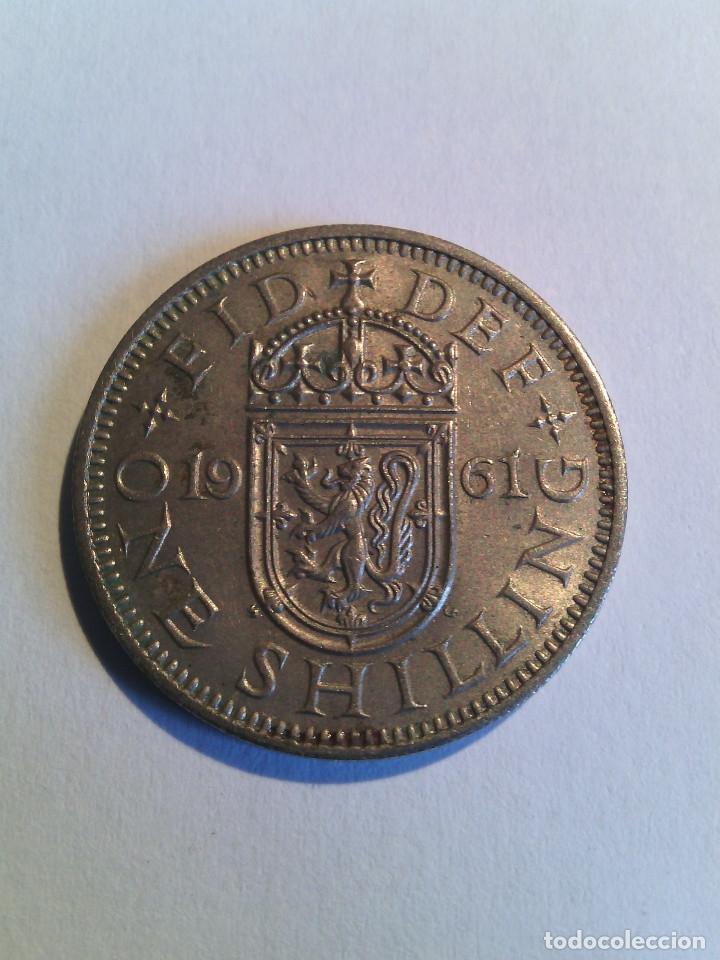 Monedas antiguas de Europa: One Shilling Escocia 1961 (19-61) Elizabeth II - Foto 2 - 178884321