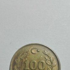 Monedas antiguas de Europa: E68- MONEDA DE CIEN LIRAS DEL AÑO 1989 DE TURQUIA. Lote 178979845