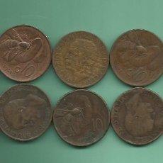 Monedas antiguas de Europa: ITALIA: 10 MONEDAS DE 10 CENTESIMI DE 1920 A 1934. 10 FECHAS DIFERENTES. Lote 178995370