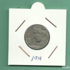 Monedas antiguas de Europa: ITALIA: 20 CENTESIMI 1914. NIQUEL. Lote 178997401