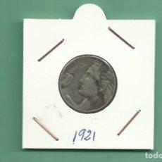 Monedas antiguas de Europa: ITALIA: 20 CENTESIMI 1921. NIQUEL. Lote 178997592