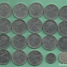 Monedas antiguas de Europa: ITALIA: 20 MONEDAS DE 50 LIRE, 20 FECHAS, 3 MODELOS. Lote 179003121